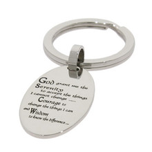 Yiwu Aceon Stainless Steel Serenity Prayer Key Chain Pendant