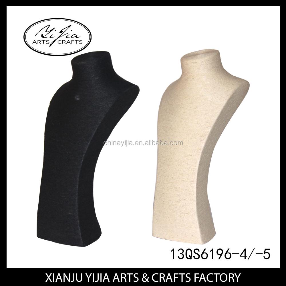 Custome fait haut de gamme papier ficelle affichage de bijoux Mannequin