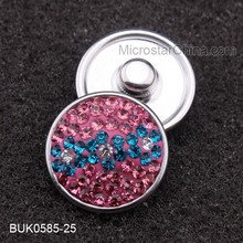 Charming Snap Button Round Snap Button Charm Full of rhinestone Snap