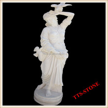 Home/Garden Famous Artist Marble Figure Handsome Woman Stone Sculpture