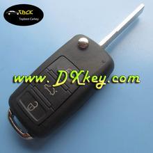 Hot sale 3 button remote key blanks with HU66 key blade for VW Touareg key hu66 vw touareg key