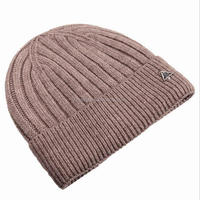 Fashion Knitted Wool & Acrylic Dyed Thick Knit Winter Mens Custom Beanie