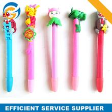 Promotion Decorative Rubber Flower Ballpoint Pen
