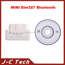 Top selling SUPER MINI ELM327 Bluetooth OBD2 V2.1 White Smart Car Diagnostic Interface ELM 327 Wireless Scan Tool