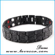 Friendship matal High Quanlity Tungsten Steel Bracelet with Healthy Magnet Element