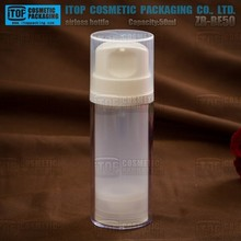 ZB-BE80 80ml clear and color customizable good quality empty 2 layers vacuum travel bottles