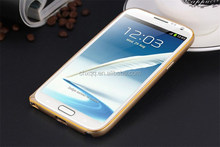 Top quality elegant Double colors Ultra thin metal bumper case For Samsung Note 2 N7100