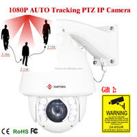 TOP CAMERA 20X Optical Zoom IR 150M High Speed Dome Full HD 2MP Auto Tracking PTZ IP Camera support onvif