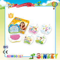 Plastic cartoon apple design kid laptop learning machine enducational study machine toy for child