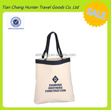2014 Wholesale 100% Organic Cotton Color Band Tote Shopping Bag For Shopping from Alibaba China