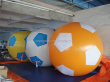 Factory direct sale high quality PVC inflatable football model, giant inflatable football