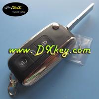 vw flip key for Phaeton Touareg Sagitar Golf Touran Tiguan 3 button remote key case vw key case
