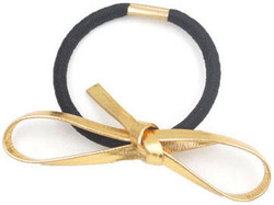 2015 Hot Sell golden bowknot Leather Hair Bands