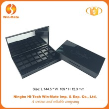 fashion black makeup case plastic eyeshadow container compact powder packaging