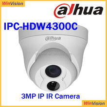 3MP HD 30m IR IP66 IK10 Eco-savvy IP Camera with Mic Dahua IPC-HDW4300C