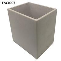 Simple design vintage style big concrete pot flower / rectangular plant pot as garden decoration