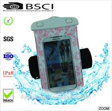pvc phone waterproof case /waterproof cheap mobile phone case /waterproof phone case