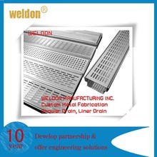 China supplier Long linear floor drain/shower drain sheet metal fabrication designed by custom