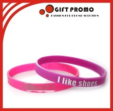 Best Selling Printed Thin Silicone Wristbands