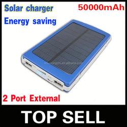 External Power Bank Portable Mobile Charger,promotional fashion solar power bank 50000mah