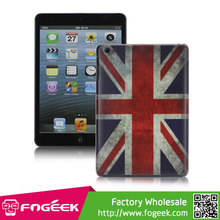 for iPad Mini Slim Unique Retro UK National Flag Pattern Smooth Hard Back Case