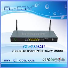 optical network 1ge+3fe catv ftth epon onu modem with wifi