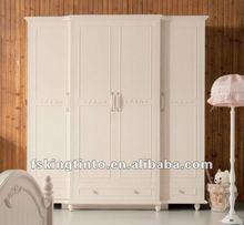 modern stylish White painted 4-door wardrobe (619)