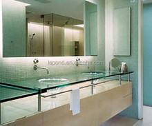 Projetos de casa de vidro do banheiro contador top