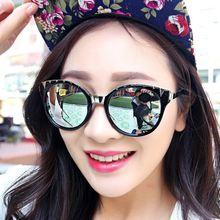 296 ewjdl wild fashion accessories for men and women sunglasses orange color sheet metal frame glasses sunglasses tide Korea