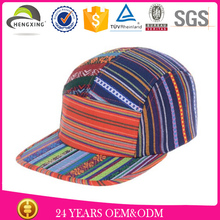 make own brand plain without logo aztec material 5 panel hat