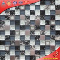 HSD30 Free Black mosaic glass tile pattern and rubberizing kitchen tile