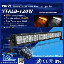 cheap aluminum housing 120W straight Amber Flash Led Light Bar made in china