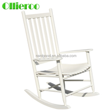 2015 top promotion White Color Comfortable Wooden Rocking Chair with Classic Design