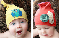 Top Design Baby Christmas Hats* Newborn Baby Toddler Boys Girl Cotton Beanie Cap with Felt flower