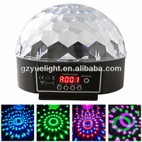6CH DMX512 LED Colorful Disco Dance Ball Ring Light christmas party light