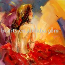 high quality sex girl picture,Large red beautiful woman half-naked body-painted oil painting wholesale Hot