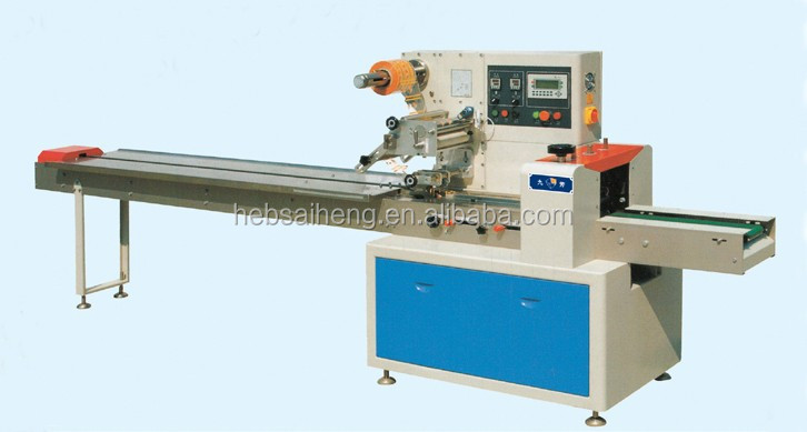 Automatic pillow bag flow type wafer bar packing machine for Food bar packaging machine