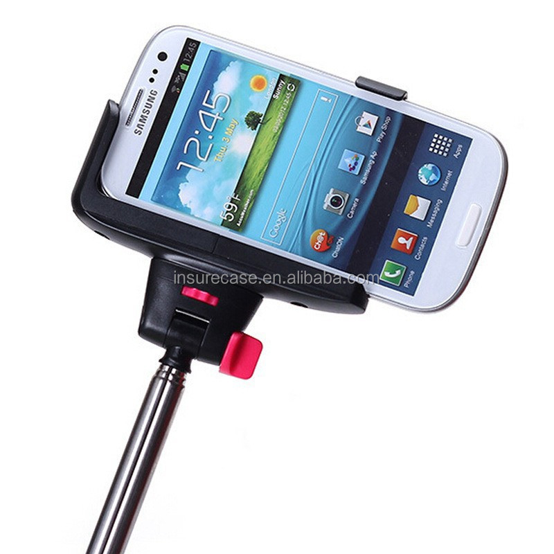 for samsung for iphone mobile phone use selfie stick with bluetooth shutter button of remote. Black Bedroom Furniture Sets. Home Design Ideas
