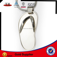 nickel flip flops shoe key chain