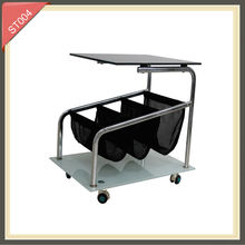 folding aluminium director clear acrylic side tables computer desk side tableST004