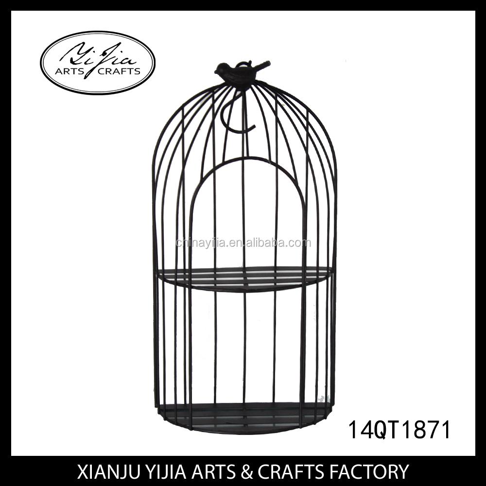 Gros m tal artisanat oiseaux cages pour jardin d coration - Oiseaux metal pour jardin ...