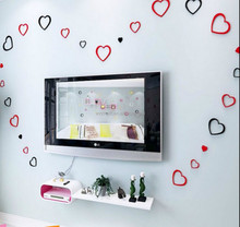 New Heart Shape 3d Wall Sticker Home Decor,High Quality Foam Wall Stickers,Wholesale Price Wall Sticker Home Decor