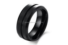 Mens Tungsten Carbide Ring Black Brushed Wedding Band / Engagement Wedding Ring