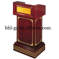 Guangzhou wholesale hotel supplies hotel products suppliers wooden podiums and lecterns wooden speech pulpit furniture T2
