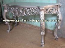 Jepara Wood Carving Console Table - Indoor Mahogany Furniture - Writing Desk Classic Furniture