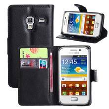 Hot selling leather case for Samsung Galaxy Ace Plus (S7500) Leather Mobile phone flip cover case for Samsung Galaxy Ace Plus