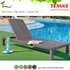 YH-8013 Outdoor garden furniture foldable plastic wicker sun lounger