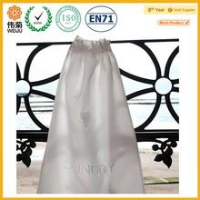 silk satin drawstring shoe bag
