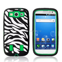 Zebra Rugged Hybrid Armor Defender Case Cover FOR galaxy S3 9300 new 3 in 1 mobile phone case
