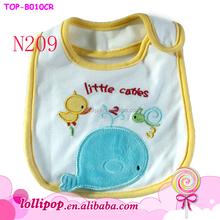 2015 New style organic cotton cartoon baby bib newborn cotton baby bandana bibs